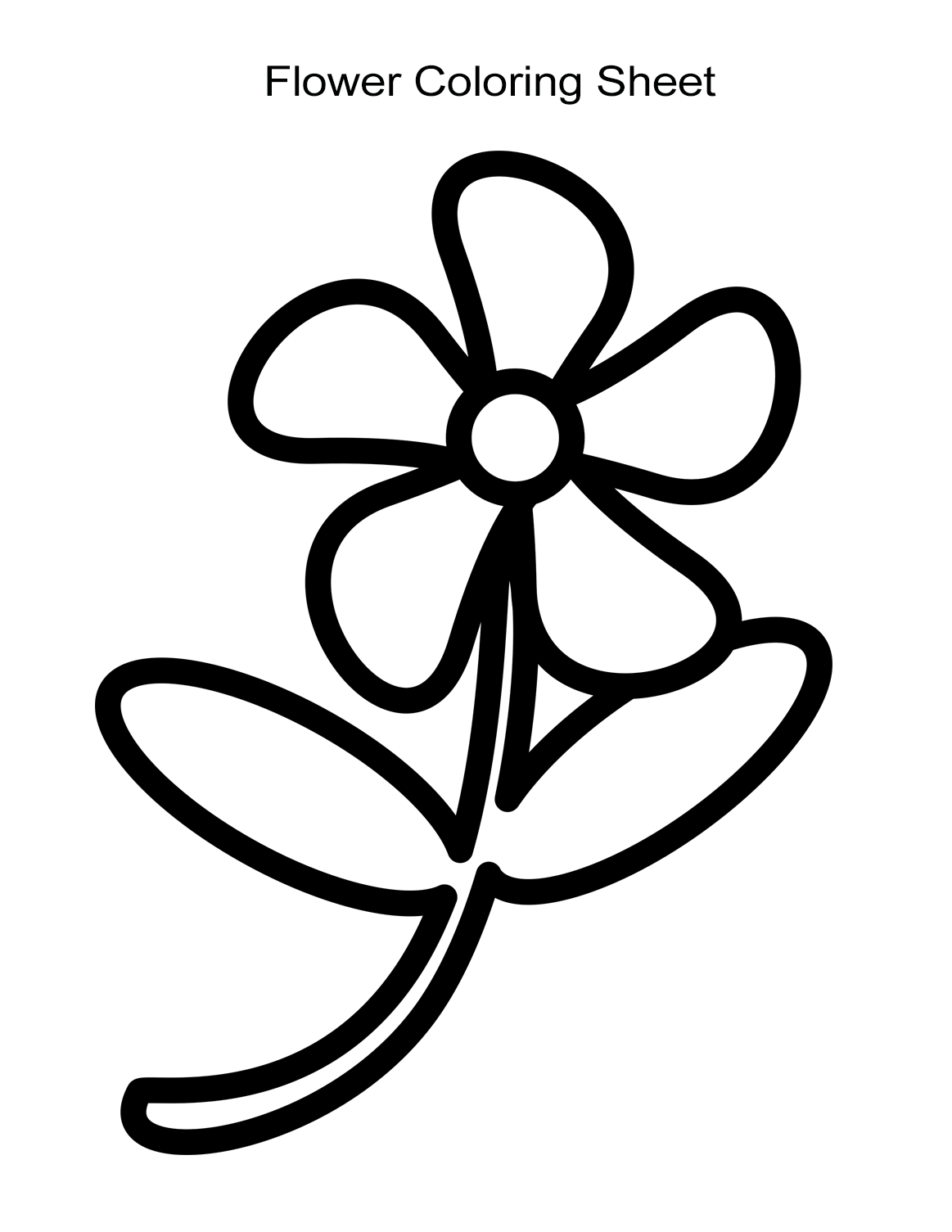 picture of a flower to color free printable flower coloring pages 16 pics how to a of picture flower color to