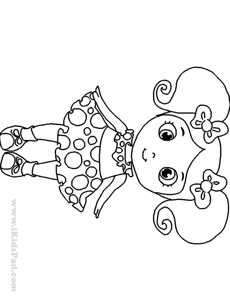 picture of a girl to color baby girl coloring pages to print coloring home color of to picture girl a