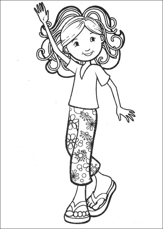 picture of a girl to color cute little girls coloring pages coloring home to color picture a of girl