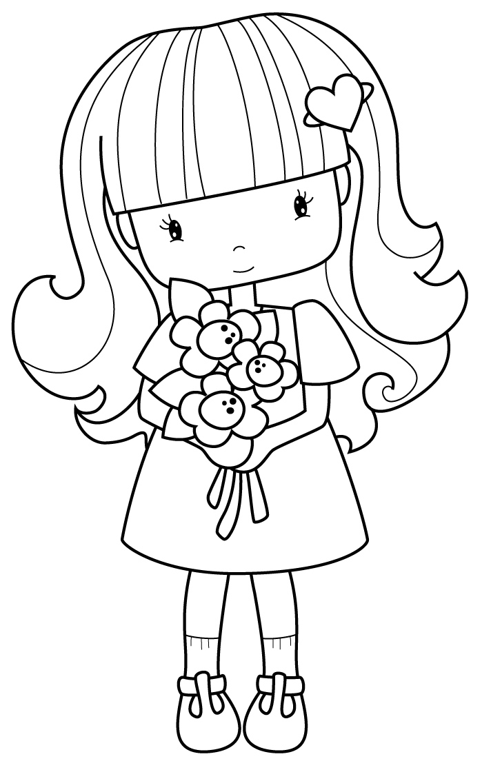 picture of a girl to color download little girl coloring for free designlooter 2020 color of girl a to picture