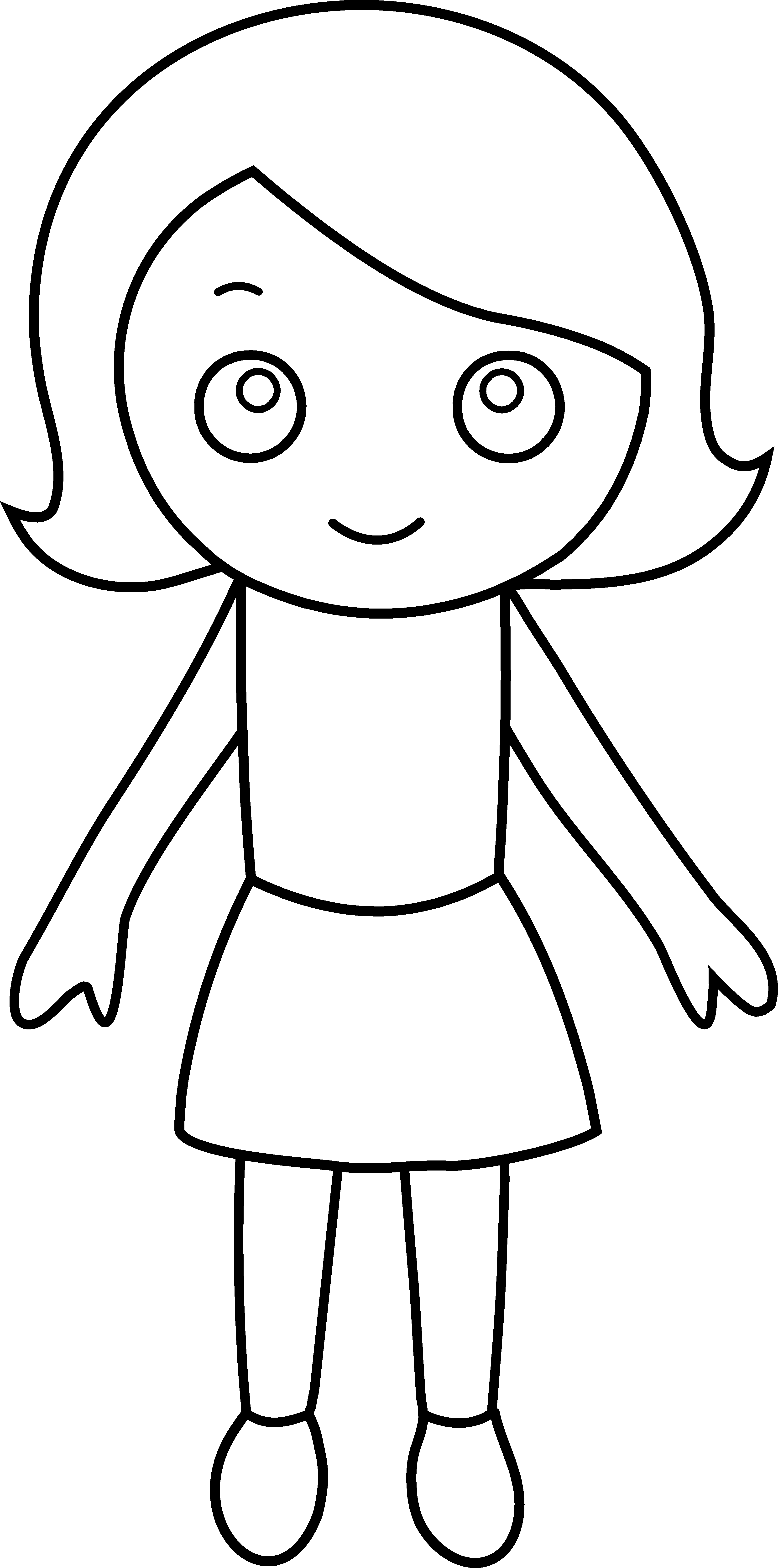 picture of a girl to color little girl coloring page free clip art a girl color of to picture