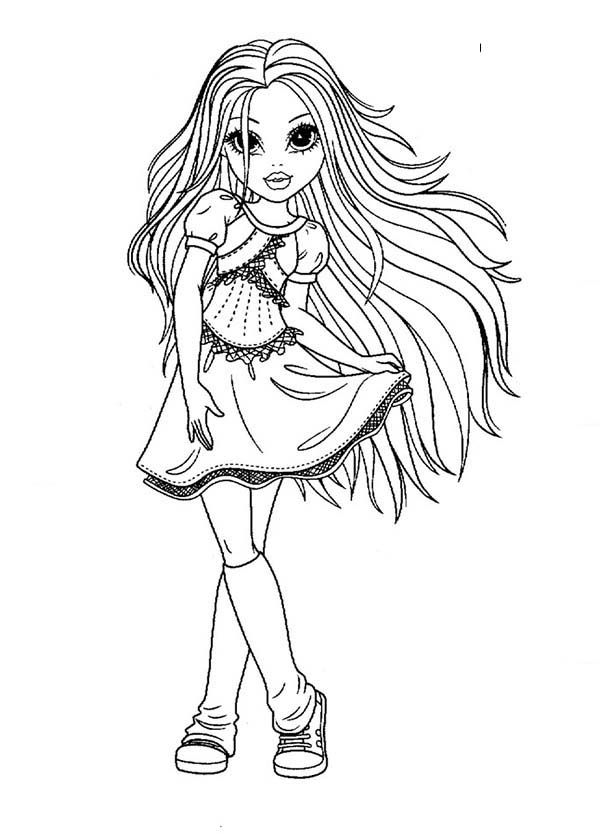 picture of a girl to color pretty girl coloring page coloring home girl color picture a of to