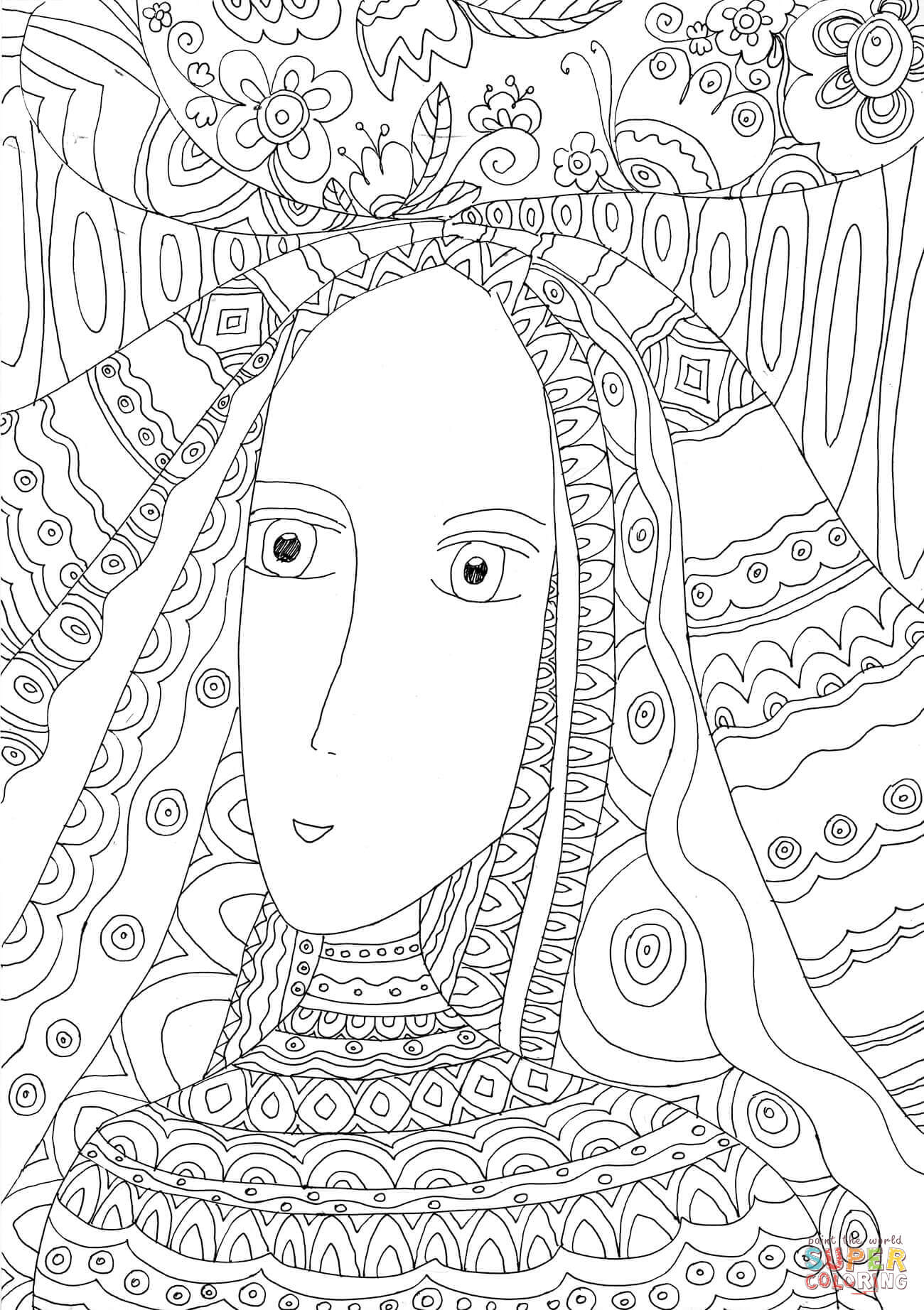 picture of a girl to color school girl coloring page a free girls coloring printable picture of to girl color a
