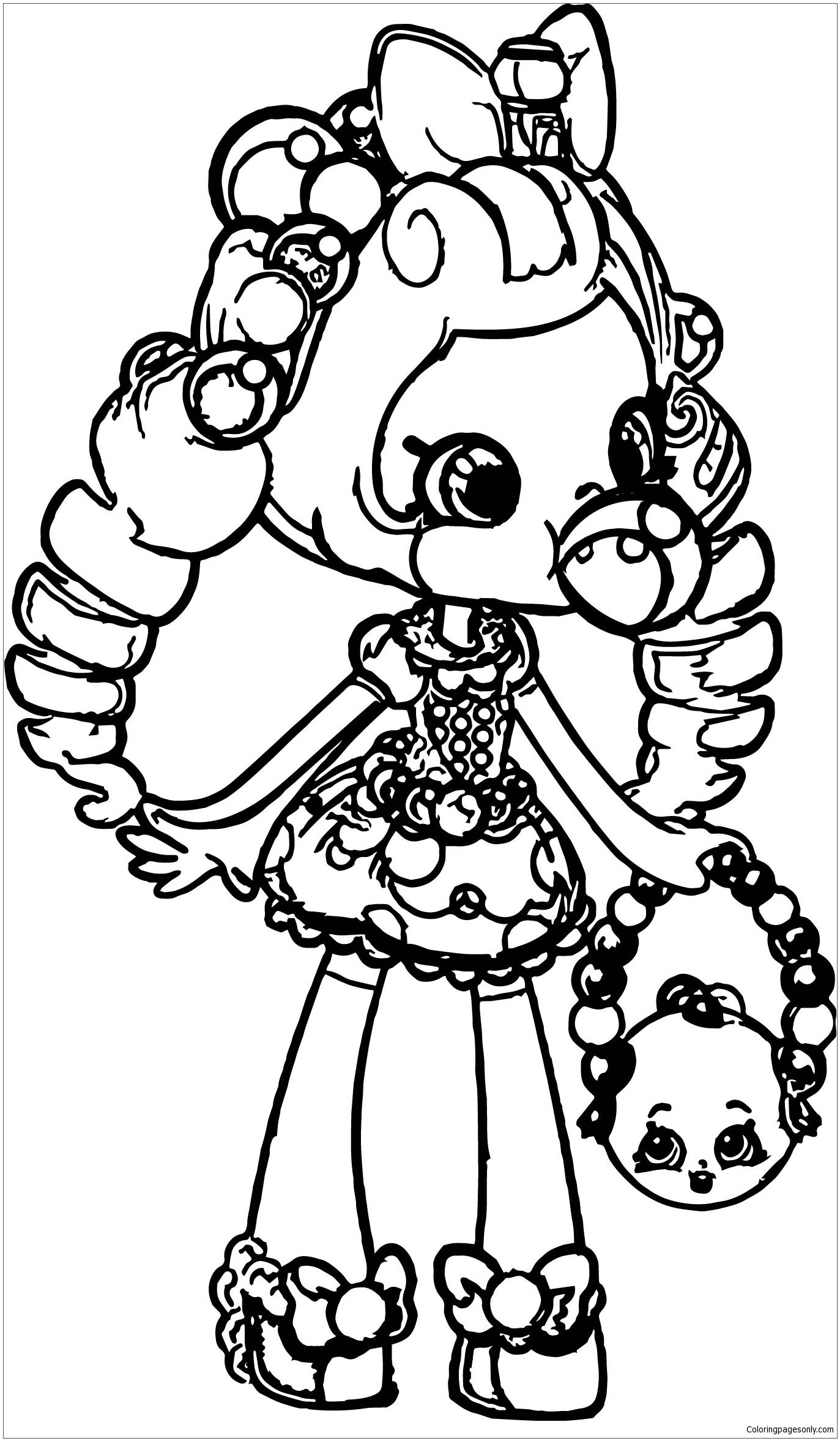 picture of a girl to color shopkins girl coloring page free coloring pages online to of girl picture a color