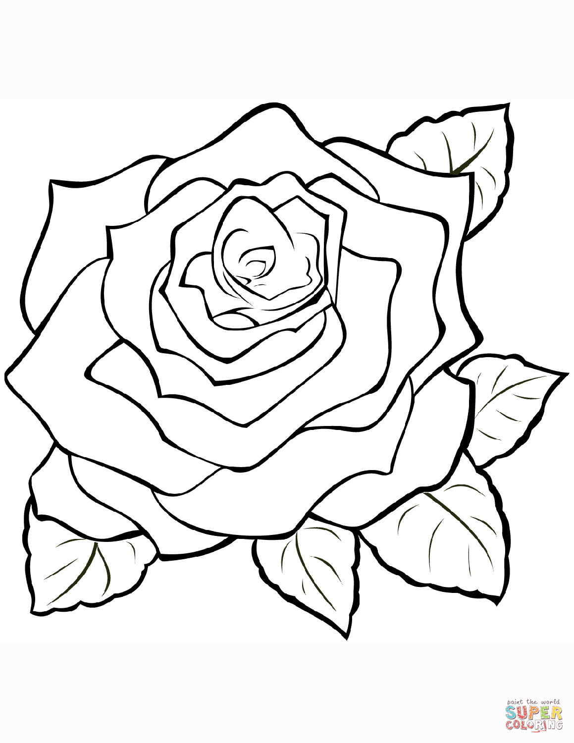 picture of a rose to color coloring ville of rose a picture color to