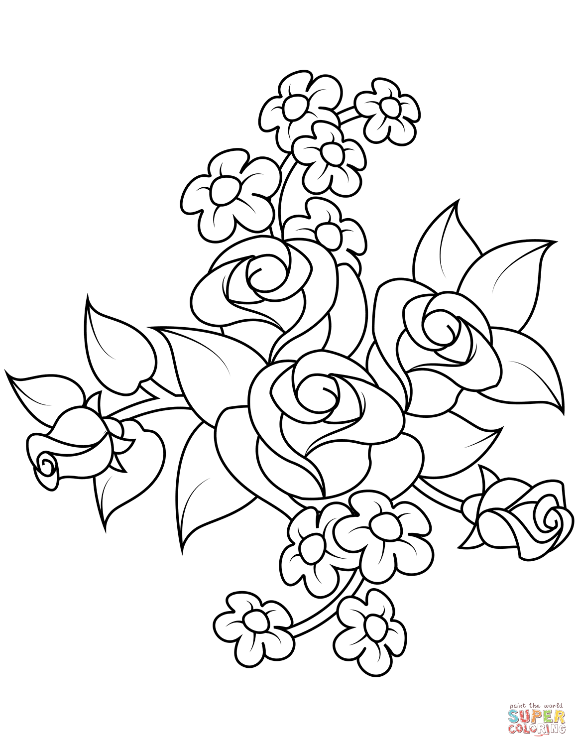 picture of a rose to color free printable rose branch coloring page a color rose of to picture
