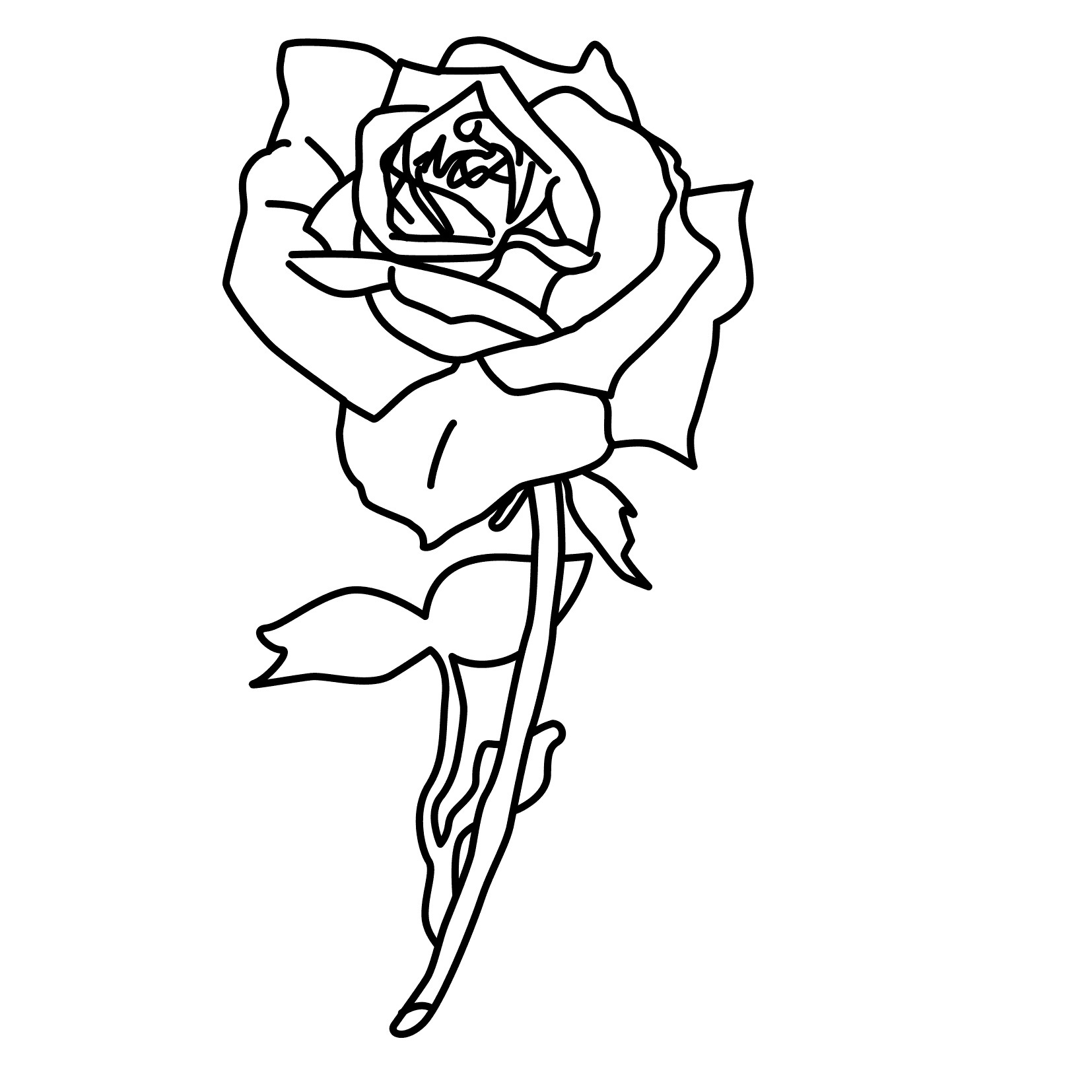 picture of a rose to color free printable roses coloring pages for kids color rose to of picture a