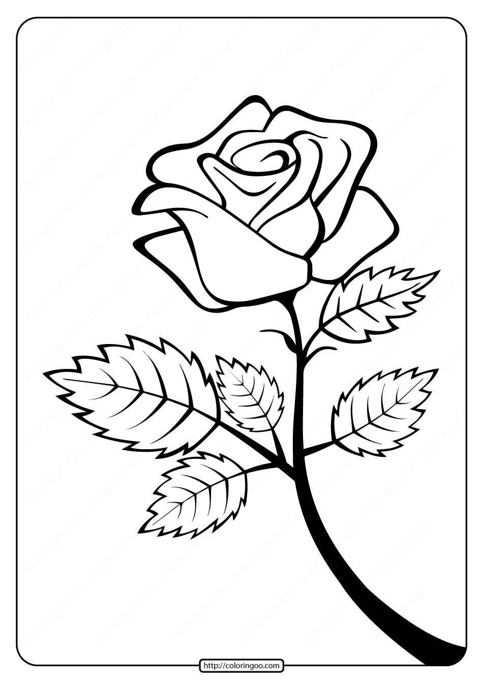 picture of a rose to color free printable roses coloring pages for kids of rose to color a picture
