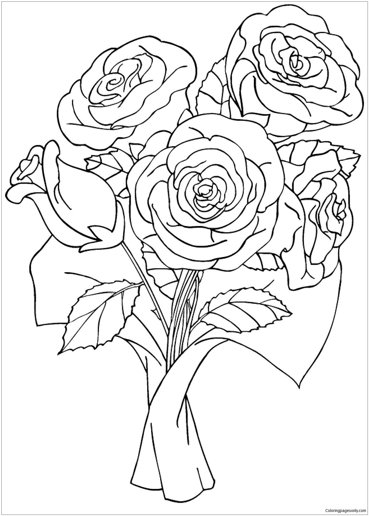 picture of a rose to color new fresh rose coloring page download print online a of picture to rose color