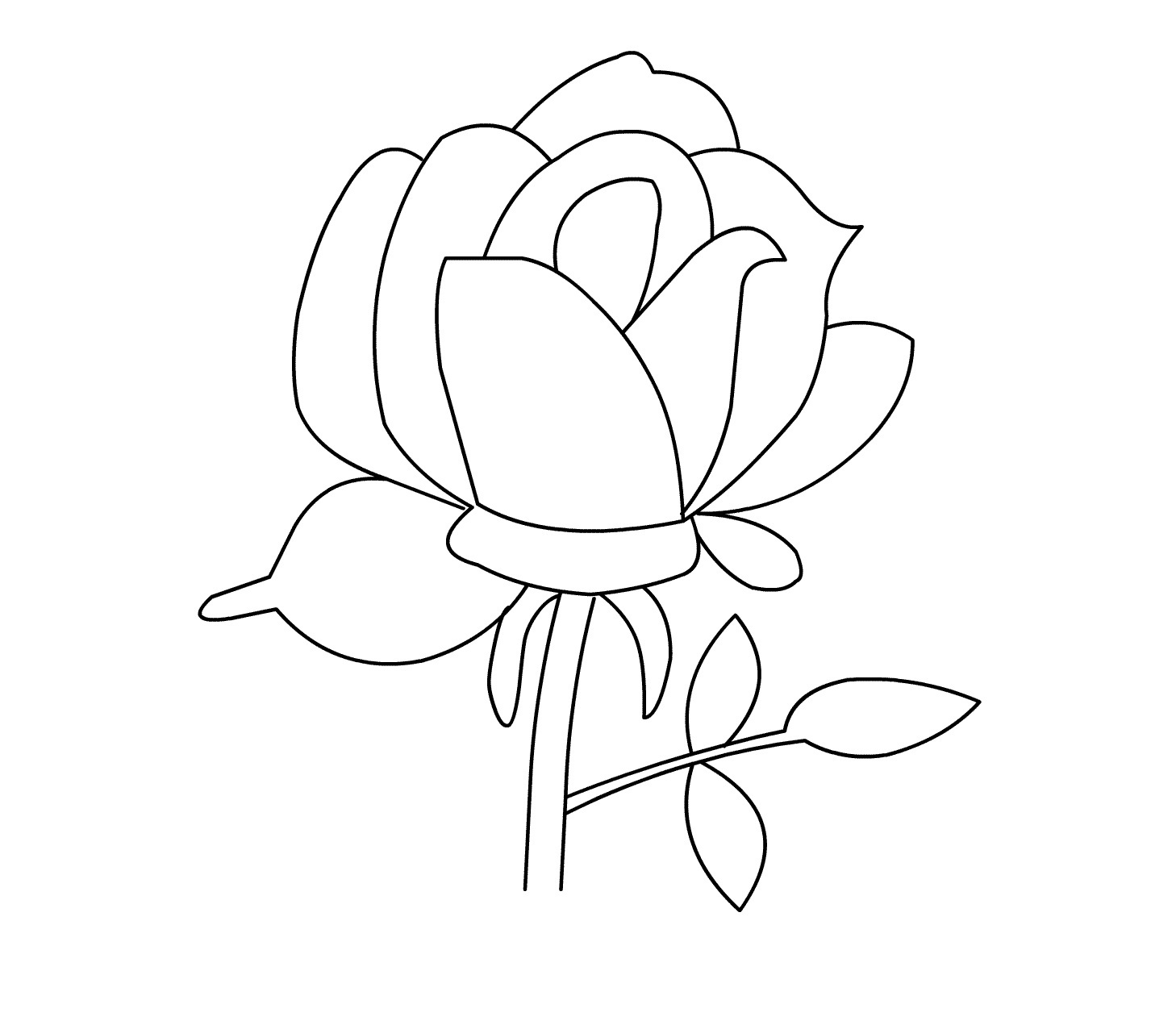 picture of a rose to color rose flower for beautiful lady coloring page download of color a to picture rose