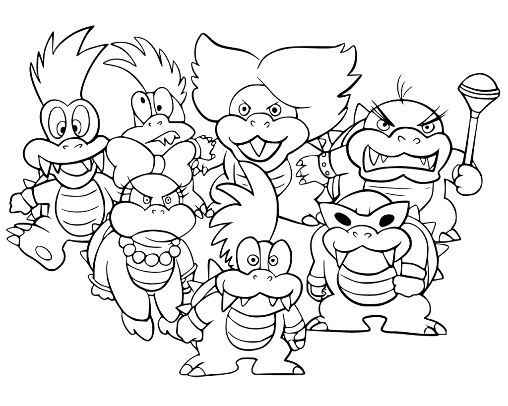 picture of bowser baby bowser super mario bros coloring pages mario bowser of picture