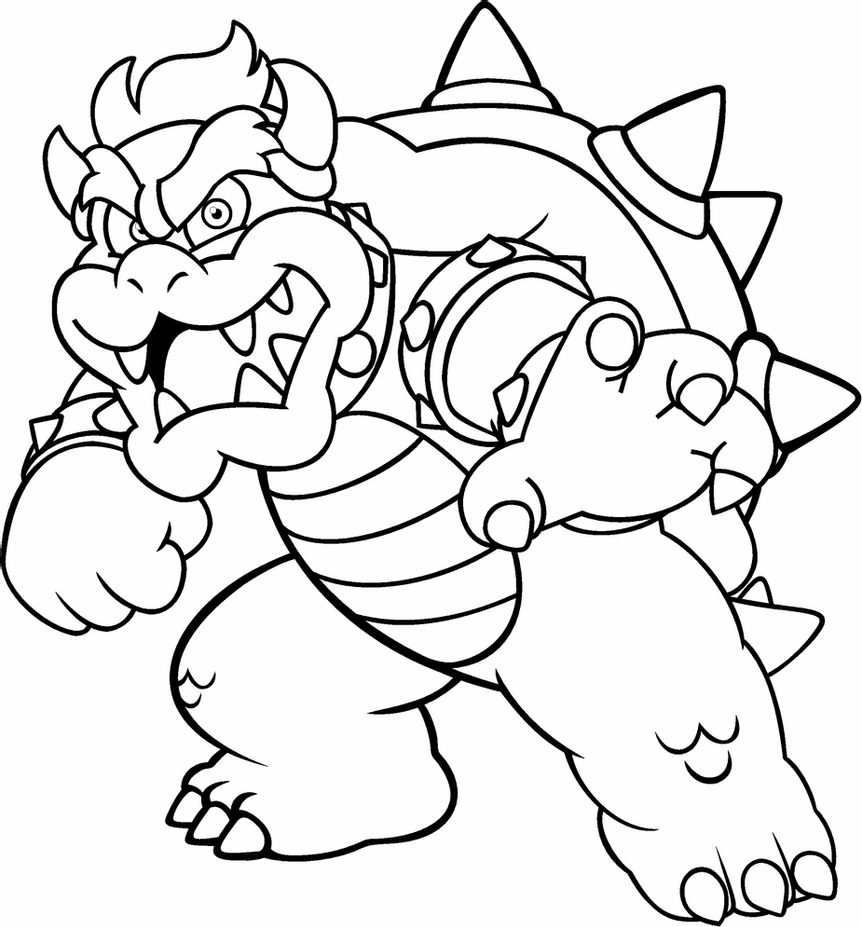 picture of bowser dry bones coloring pages in 2020 mario coloring pages of picture bowser