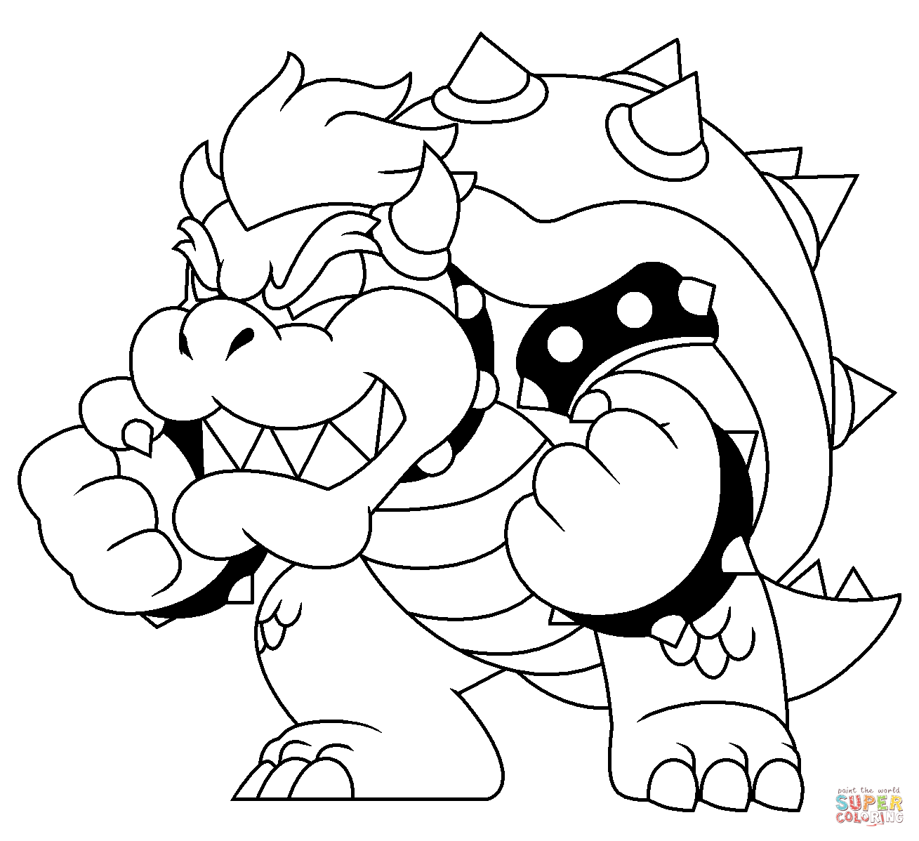 picture of bowser giga bowser ausmalbild clip art library picture of bowser