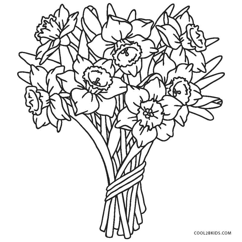 pictures of flowers to color free printable flower coloring pages for kids of pictures to color flowers