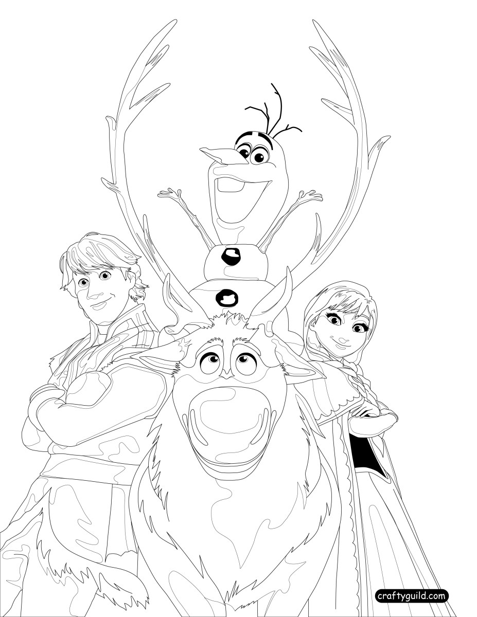 pictures of frozen to color frozen coloring pages on crafty guild pictures of to frozen color