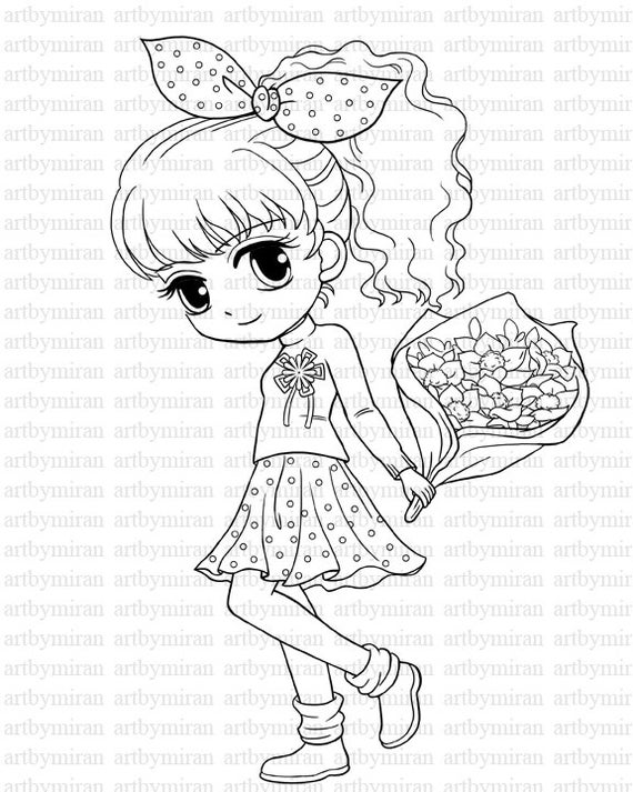 pictures of girls coloring pages digi stamp isabel39s bouquet pretty girl coloring page pictures girls of coloring pages