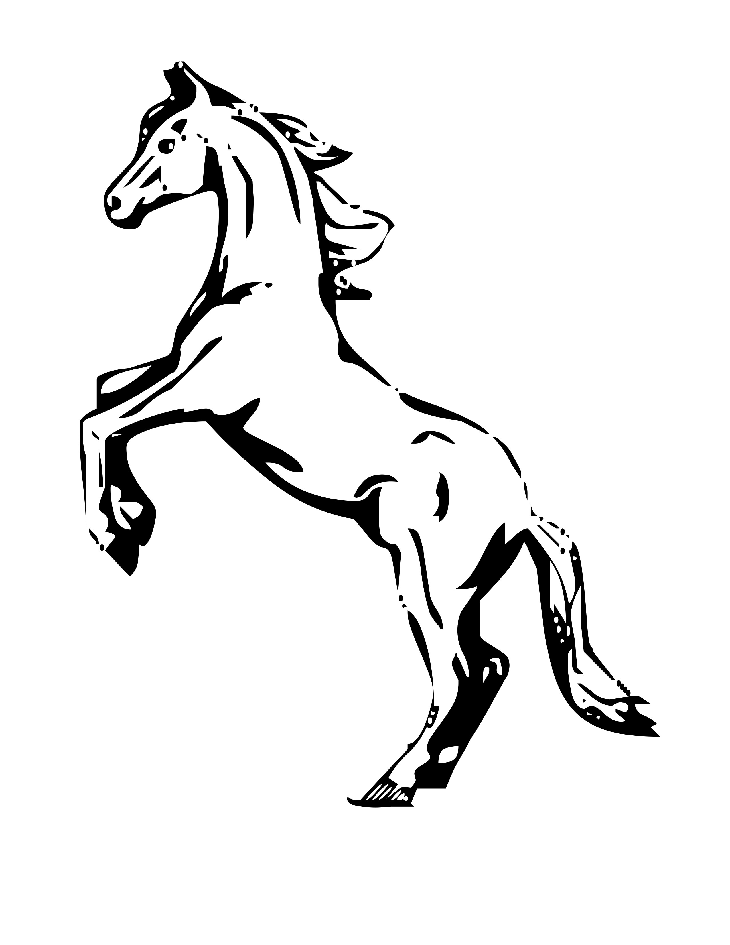 pictures of horses to colour in free horse coloring pages pictures in colour horses to of