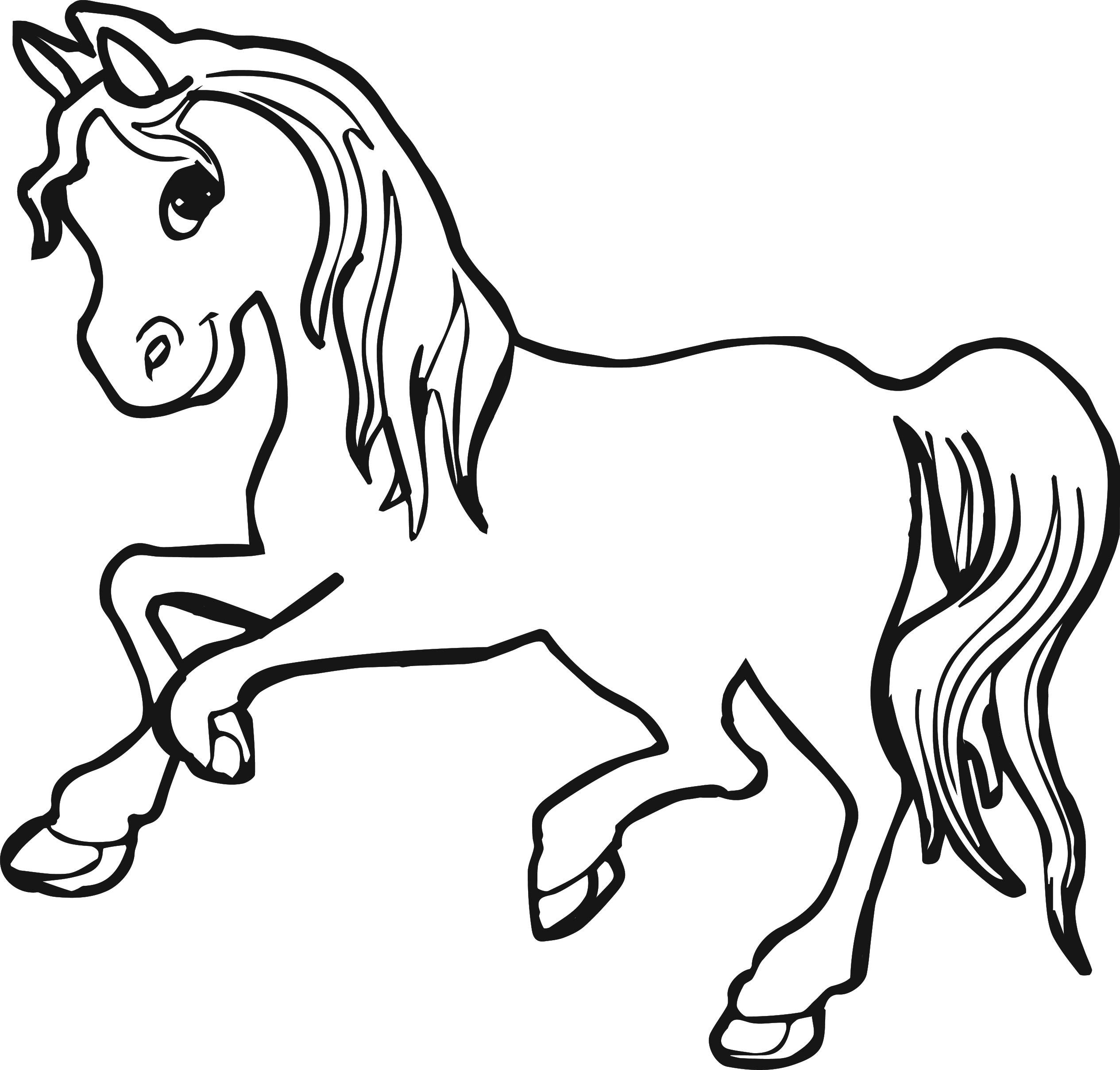 pictures of horses to colour in horse coloring pages for kids coloring pages for kids horses to of pictures in colour