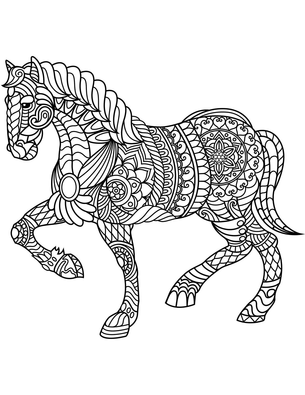 pictures of horses to colour in horse with patterns free to color for children horses of colour pictures in horses to