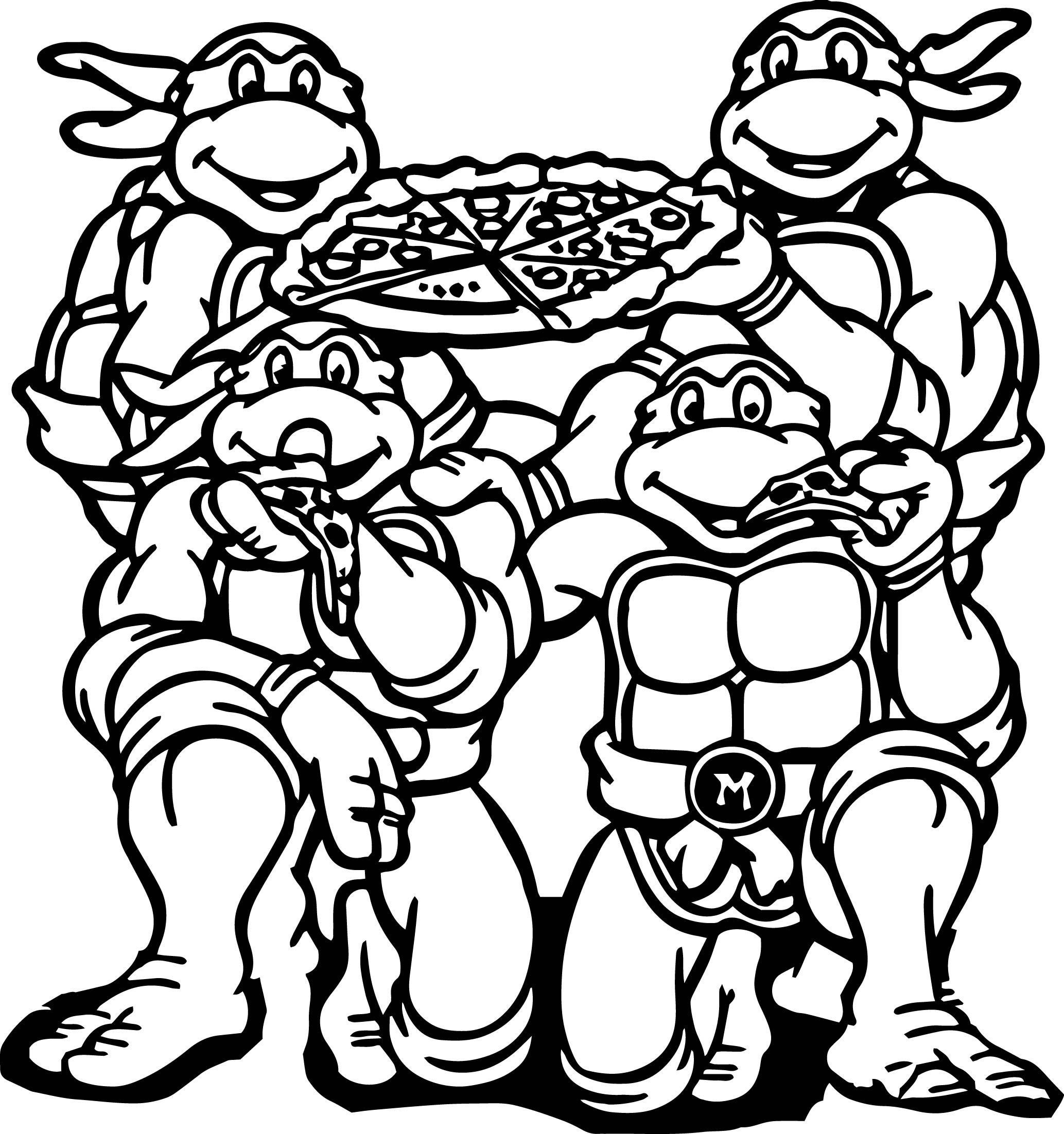 pictures of ninja turtles to color ninja turtle coloring pages pdf at getcoloringscom free turtles color pictures of to ninja