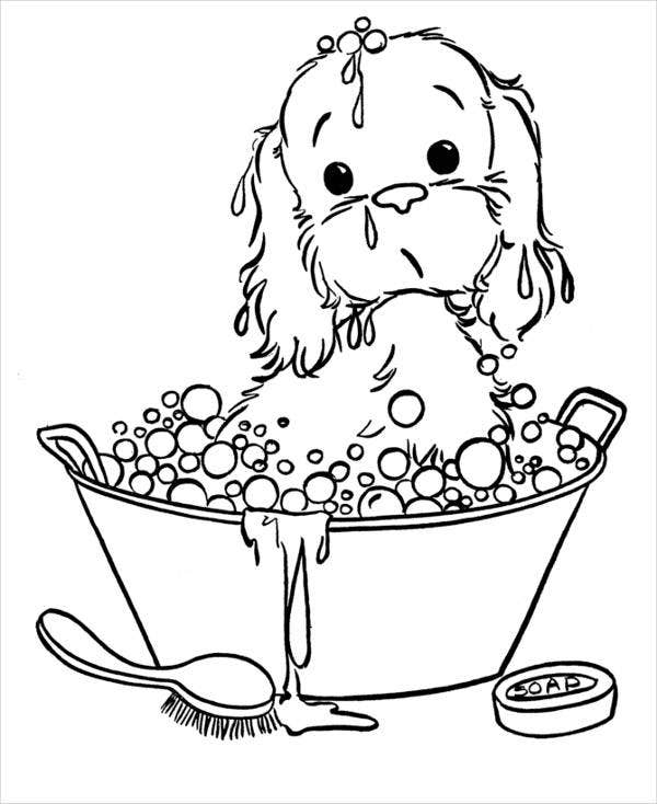 pictures of puppies to color animals coloring pages cute puppy playing kids of pictures color to puppies