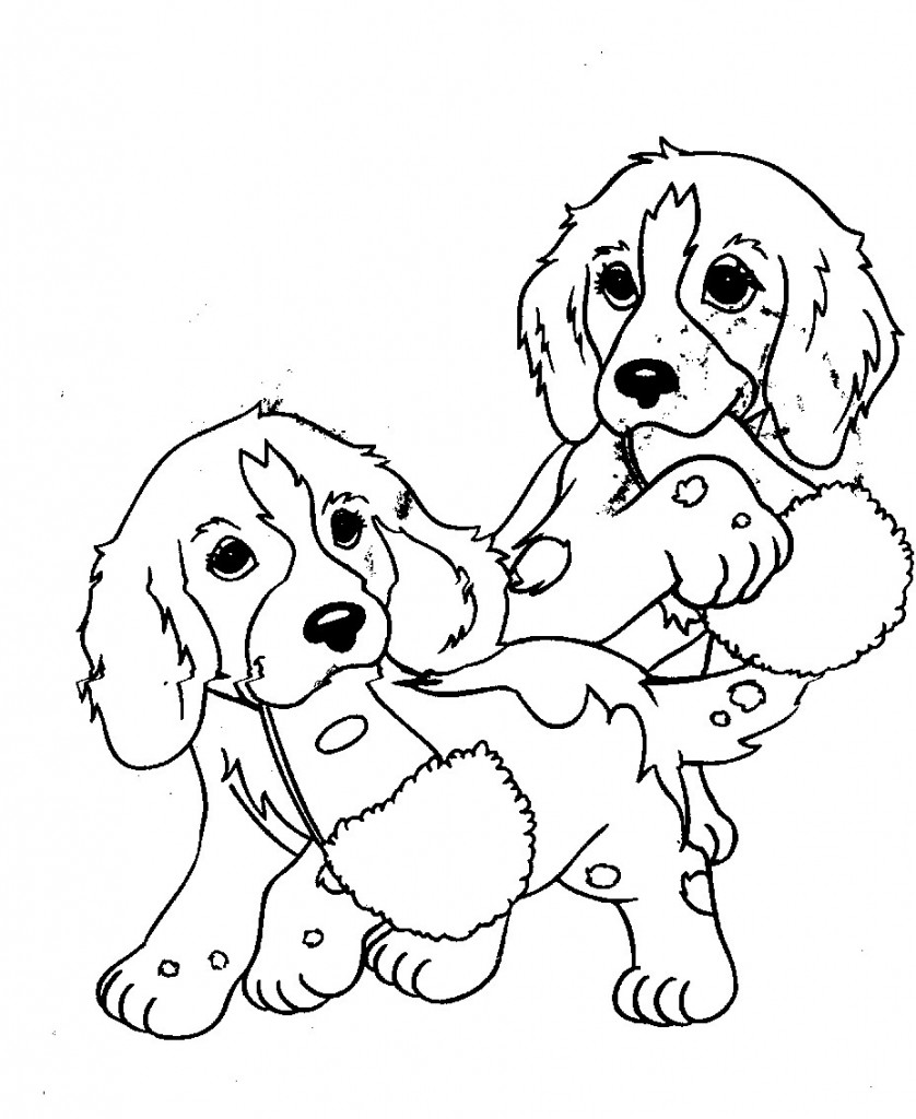 pictures of puppies to color dog coloring pages for kids preschool and kindergarten to puppies color pictures of