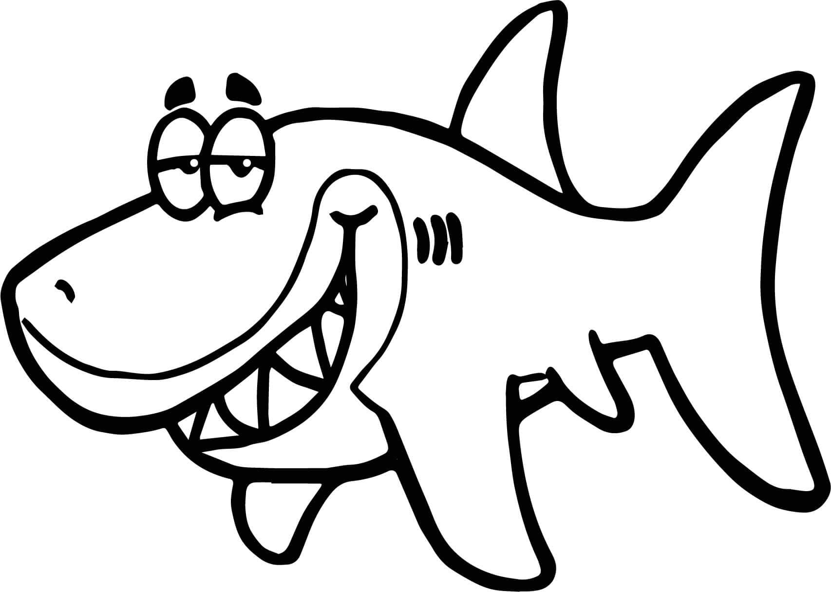 Pictures of sharks to colour