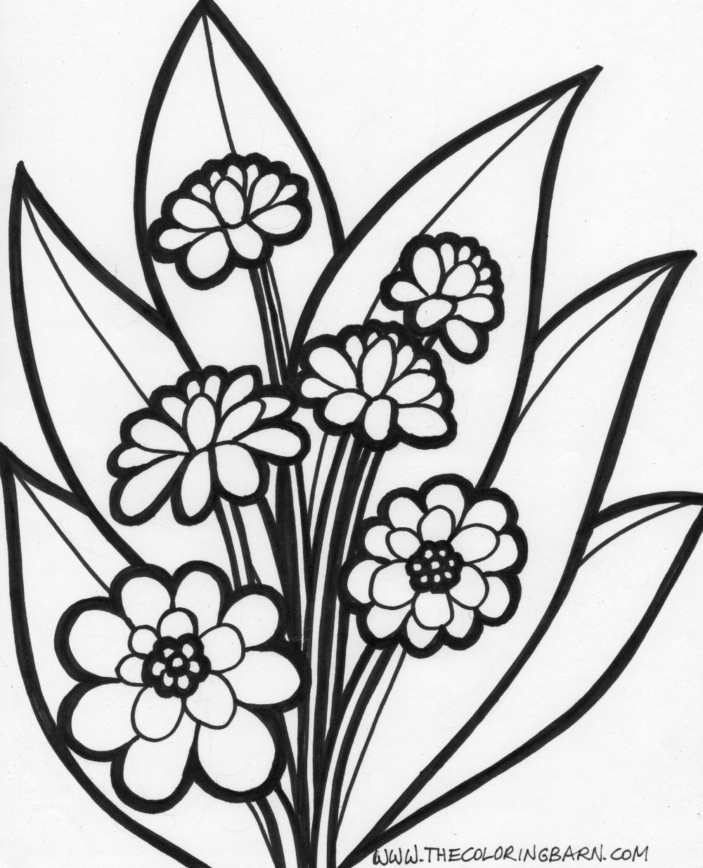 pictures to colour in of flowers flowers coloring pages coloringpages1001com in to colour flowers of pictures