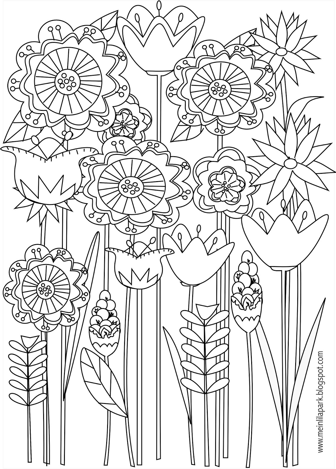 pictures to colour in of flowers tulip coloring pages to download and print for free flowers in pictures of to colour