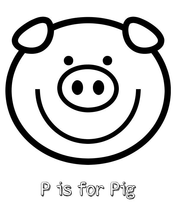 pig template for preschoolers free printable p is for pig coloring page printables preschoolers for pig template