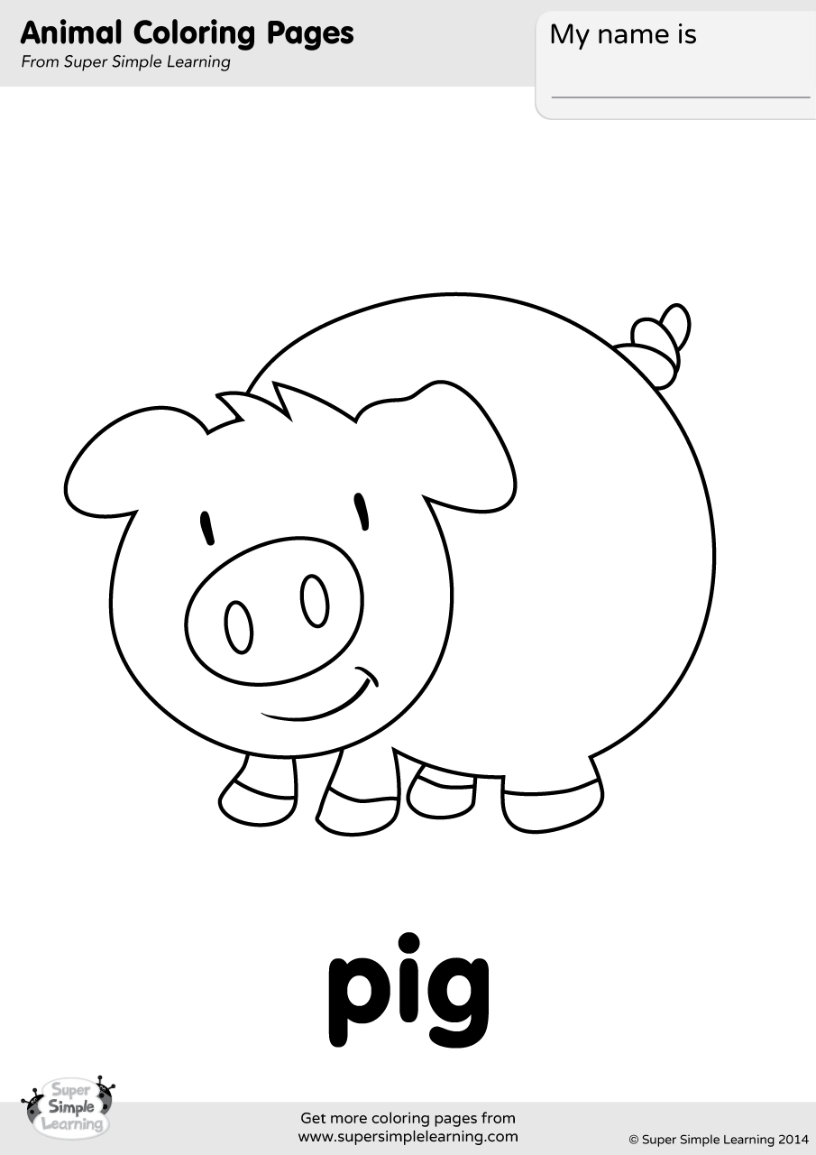 pig template for preschoolers pig coloring page super simple pig for preschoolers template