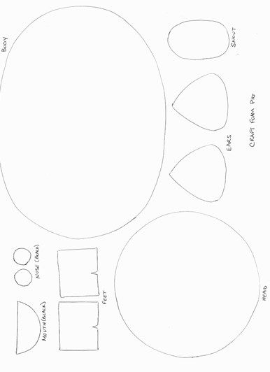 pig template for preschoolers pig craft template pig crafts template for preschoolers pig