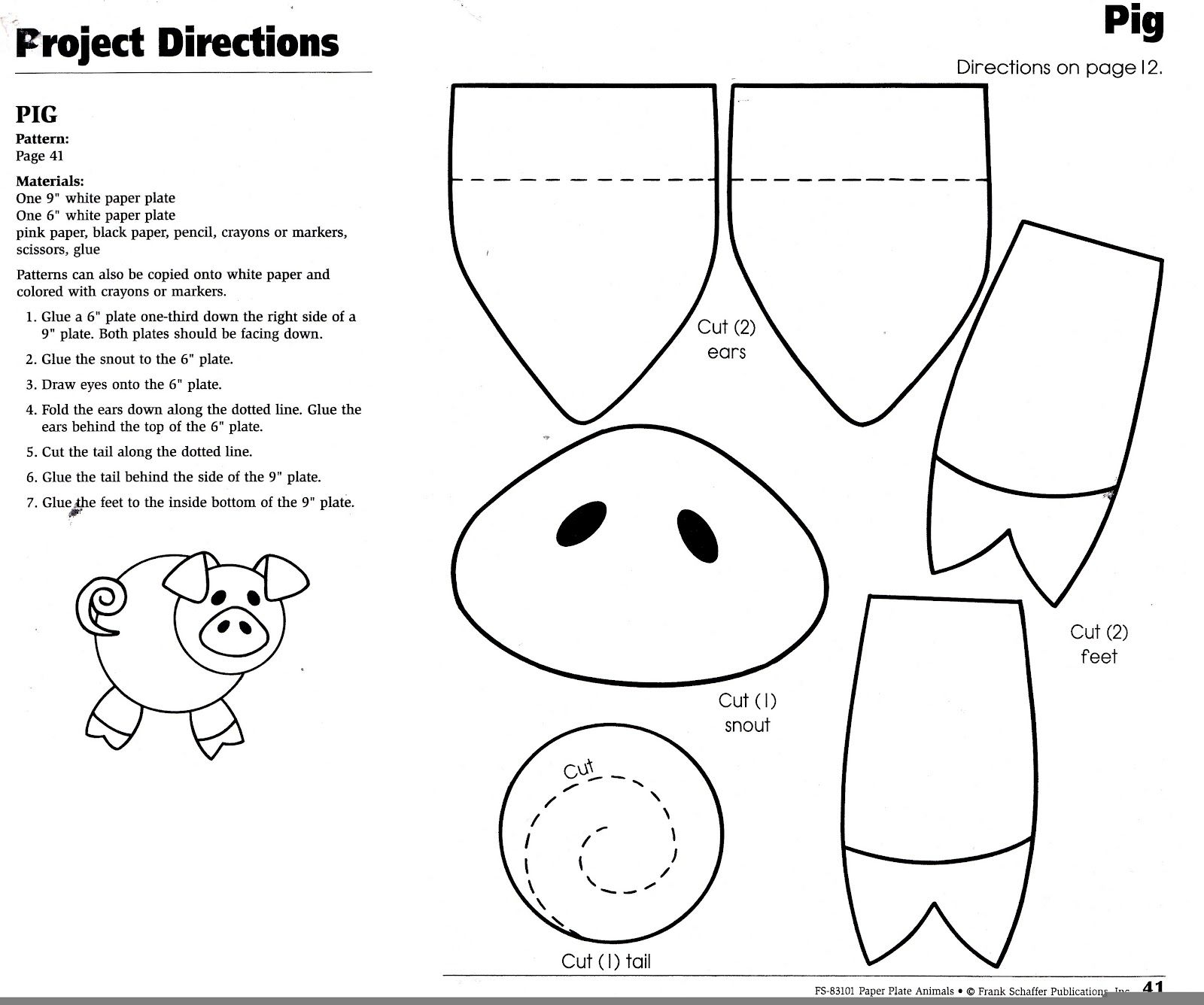 pig template for preschoolers simple pig coloring pages preschool art basics preschoolers for pig template