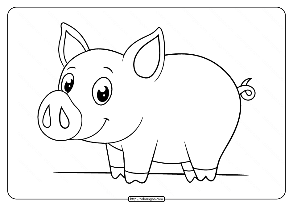pig to colour free printable pig coloring pages at getdrawingscom to pig colour