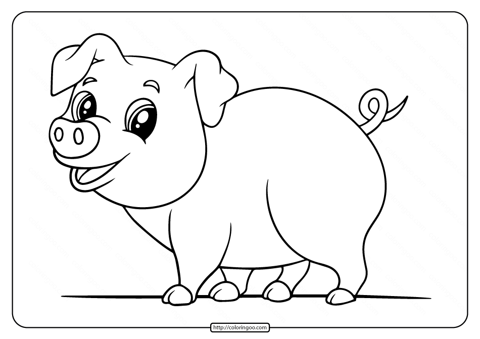 pig to colour free printable pig coloring pages for kids pig colour to