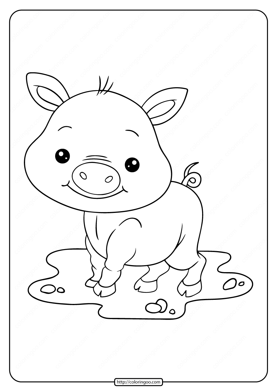 pig to colour pig coloring pages getcoloringpagescom pig to colour