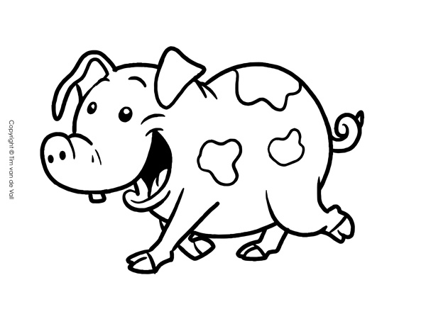 pig to colour printable cute pig coloring pages colour pig to