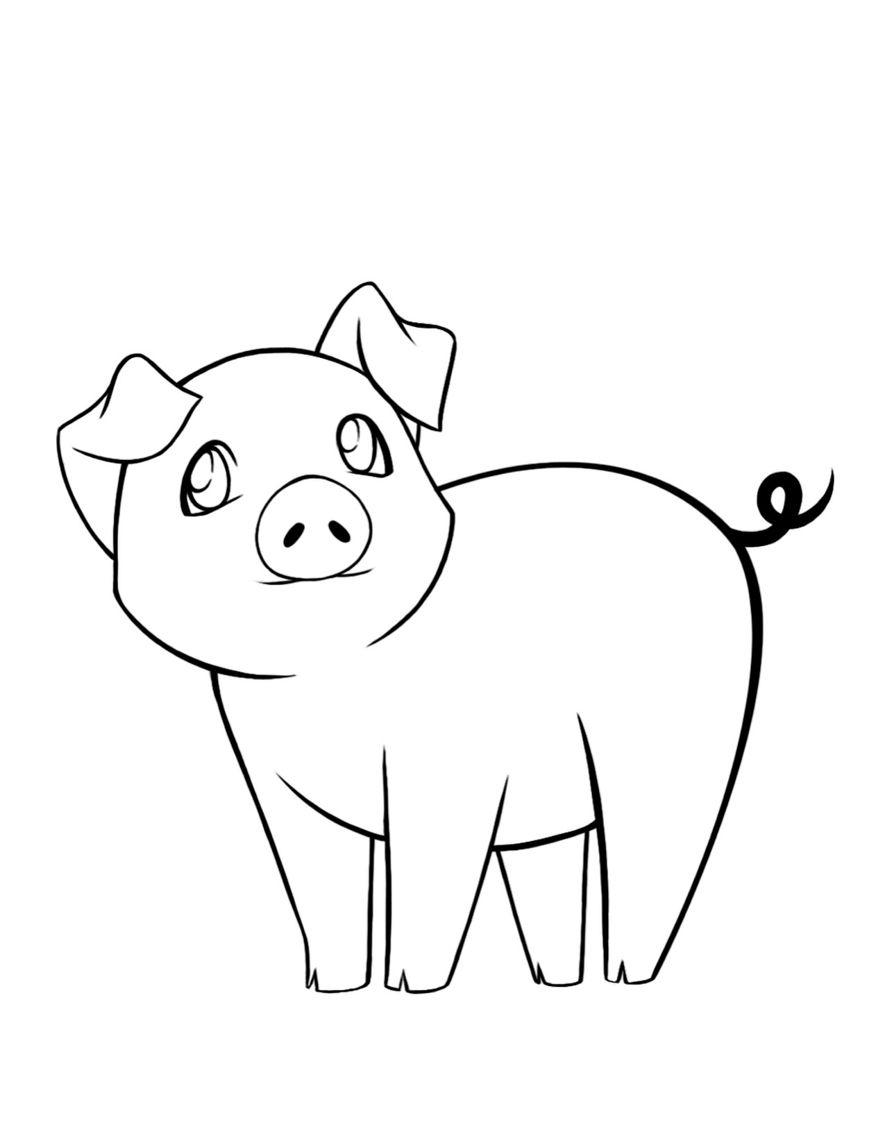 pig to colour printable easy pig coloring pages for kids to colour pig