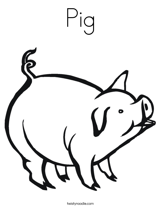 pig to colour simple pig drawing at getdrawings free download colour to pig