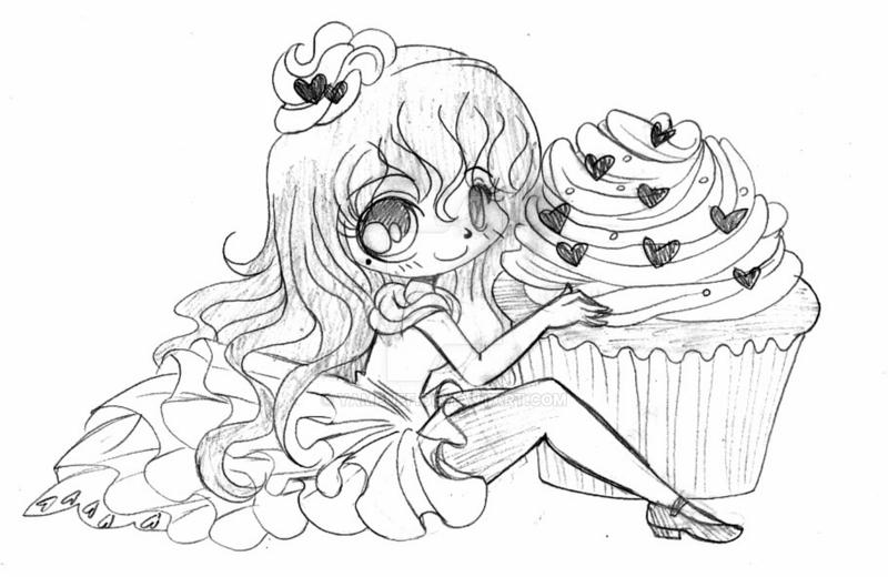 pink food coloring red velvet cupcake sketch by yampuff on deviantart food pink coloring