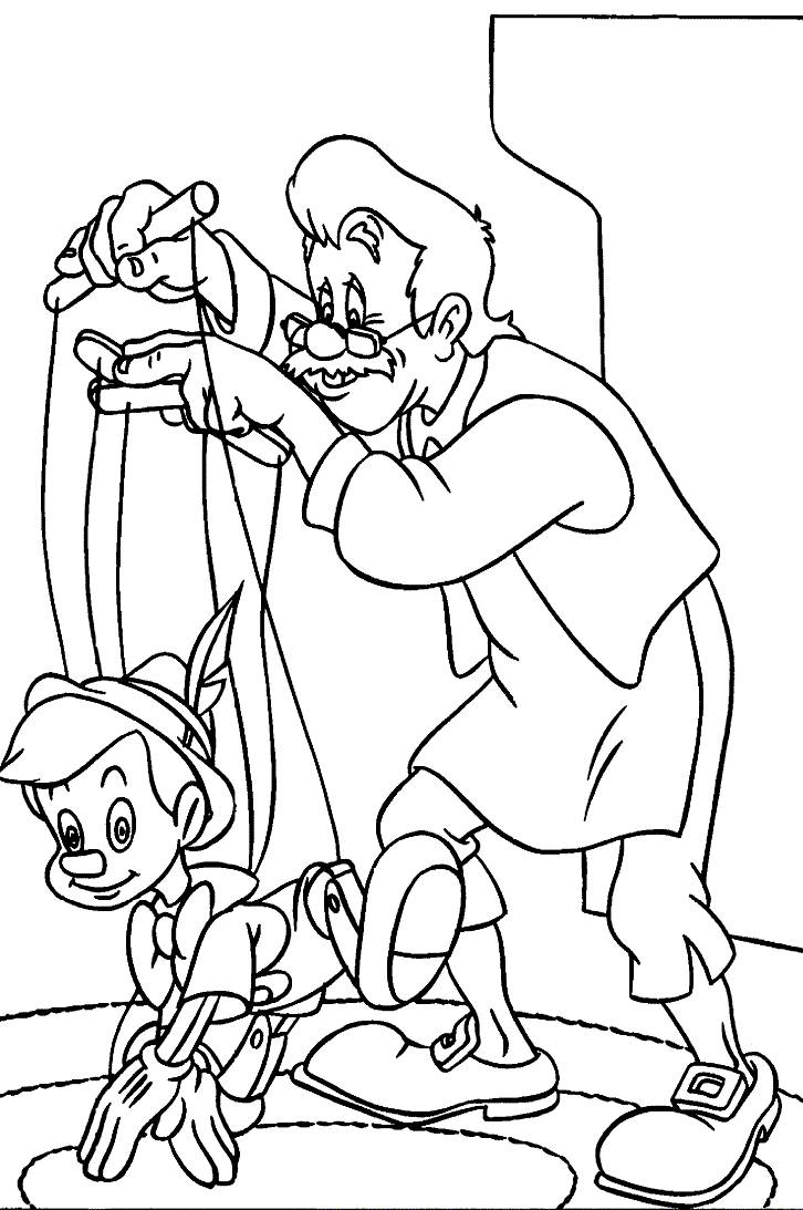 pinocchio coloring pinocchio coloring pages disneyclipscom pinocchio coloring 1 1