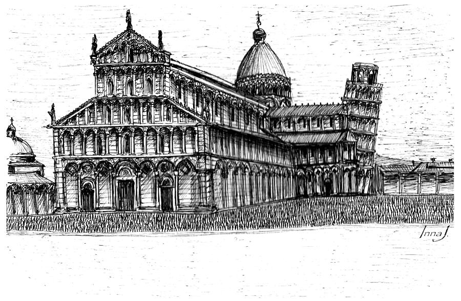 pisa tower drawing best leaning tower of pisa illustrations royalty free drawing pisa tower