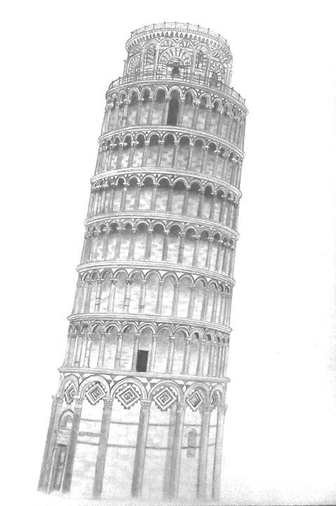 pisa tower drawing leaning tower of pisa coloring page free printable pisa tower drawing