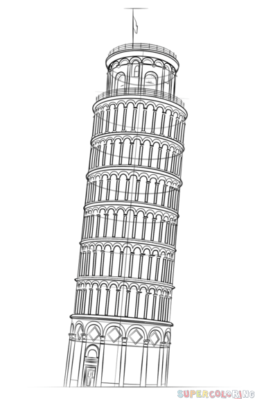 pisa tower drawing leaning tower of pisa leaning tower of pisa pisa art drawing tower pisa