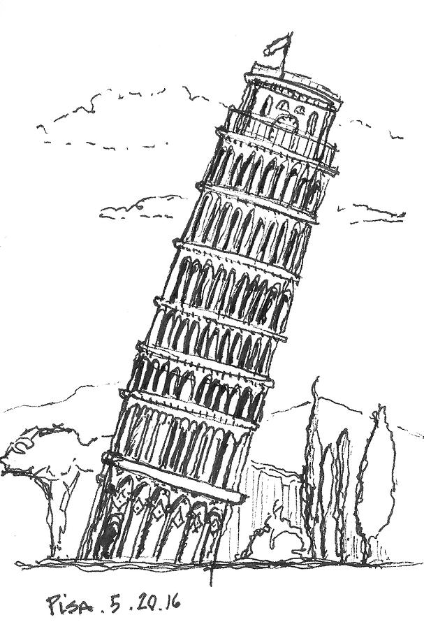 pisa tower drawing royalty free drawing of the leaning tower pisa clip art pisa drawing tower