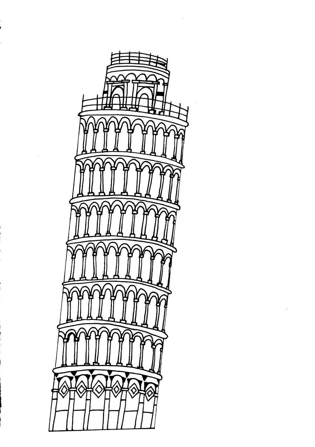 pisa tower drawing the leaning tower of pisa by untilblack on deviantart pisa tower drawing
