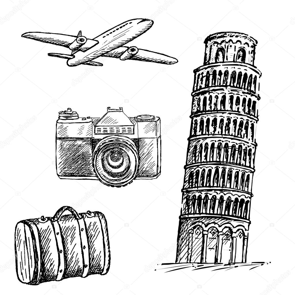 pisa tower drawing the leaning tower of pisa drawing by inna j pisa tower drawing