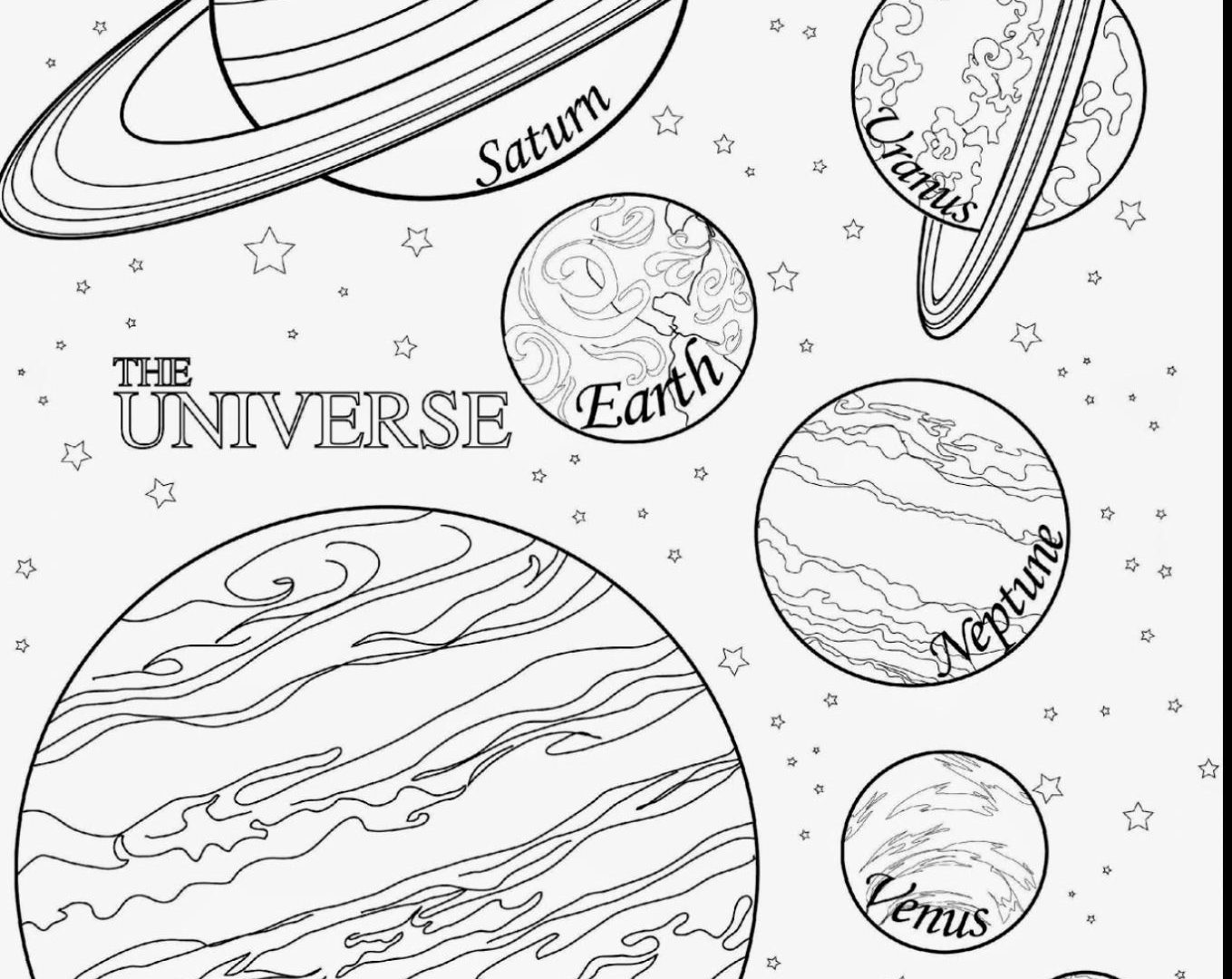 planets coloring sheets solar system line drawing at getdrawingscom free for planets sheets coloring