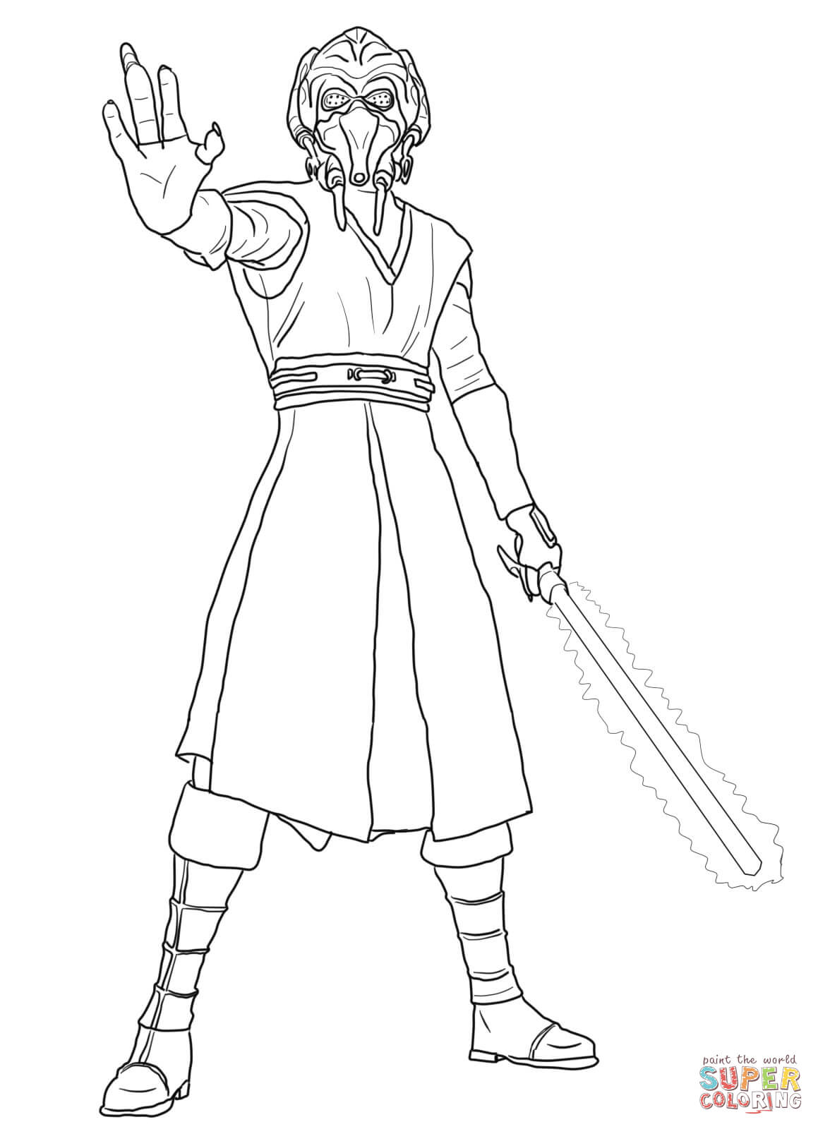 Plo koon coloring pages