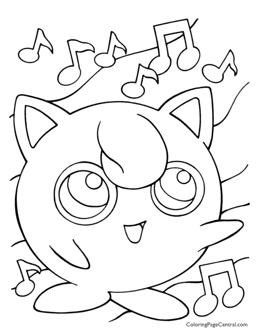 pokemon coloring pages jigglypuff jigglypuff pokemon coloring page free pokémon coloring coloring jigglypuff pokemon pages